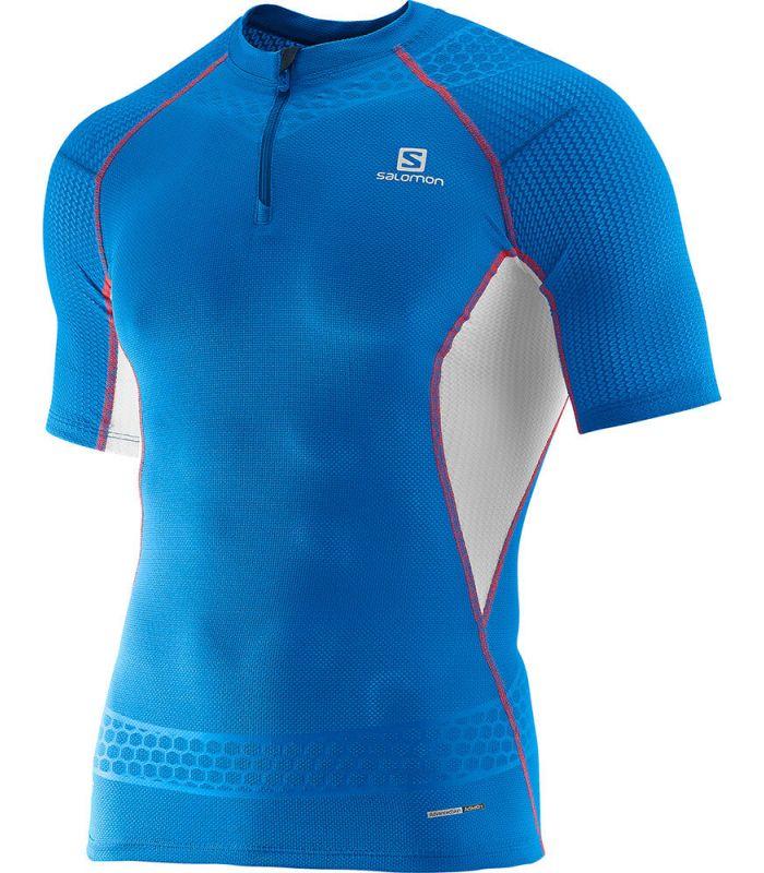 Salomon S-Lab Exo Zip Tee Azul 2 - Camisetas Técnicas Trail Running - Salomon l, s