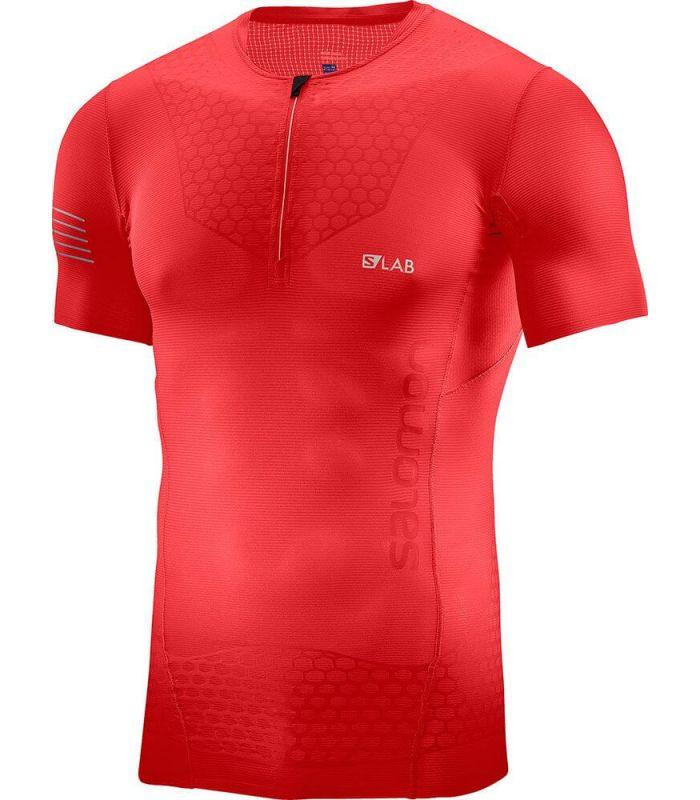 Salomon S-Lab Exo HZ SS Tee M - Camisetas Técnicas Trail Running - Salomon rojo m, s