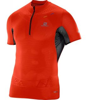 Salomon Plaat Exo Zip Tee Rood