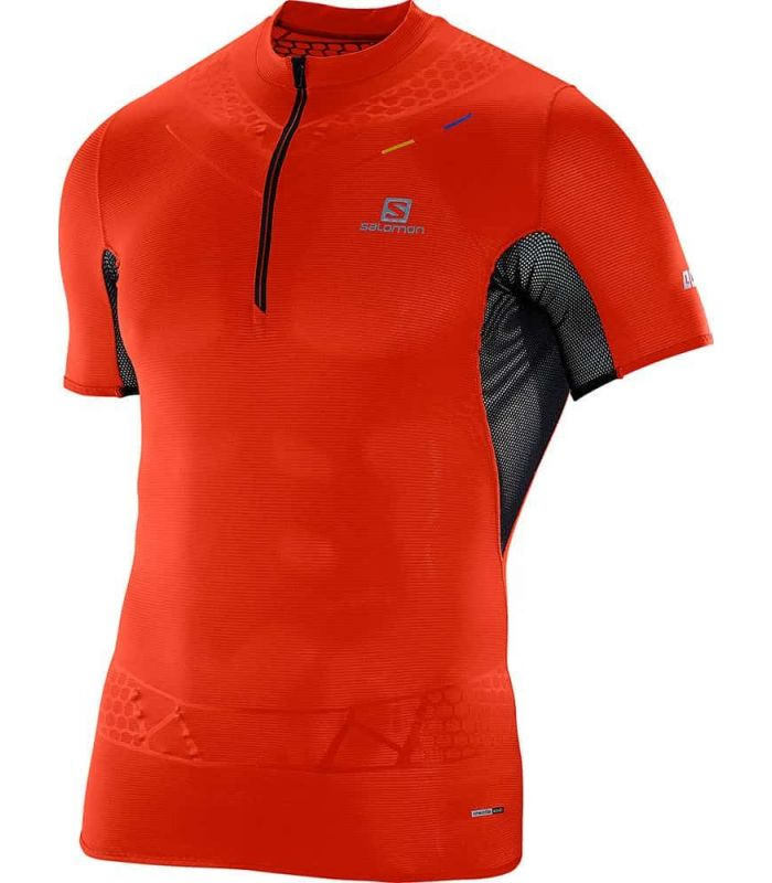 Salomon SLab Exo Zip Tee Rojo Salomon Camisetas Técnicas Trail Running Textil Trail Running Tallas: s; Color: negro