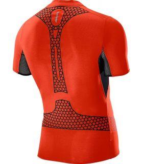 Salomon SLab Exo Zip Tee Rojo - Camisetas Técnicas Trail Running - Salomon negro s