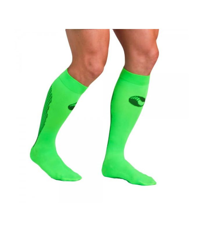 Calcetin Medilast Atletismo Verde - Chaussettes De Course