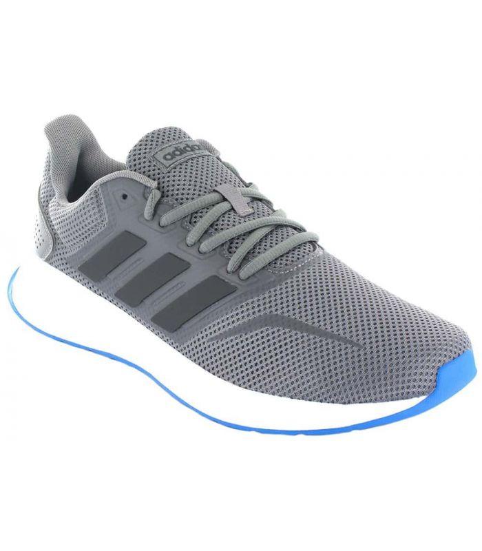 Adidas Runfalcon Gris - Zapatillas Running Hombre - Adidas gris 41 1/3, 46, 44 2/3