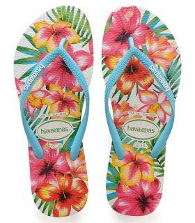 Havaianas Slim Hibisco - Tienda Sandalias / Chancletas Mujer - Havaianas azul 35 / 36, 37
