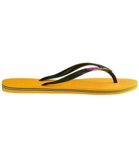 Havaianas Slim Brasil Logo Amarillo Havaianas Tienda Sandalias / Chancletas Mujer Sandalias / Chancletas Tallas: 35 /