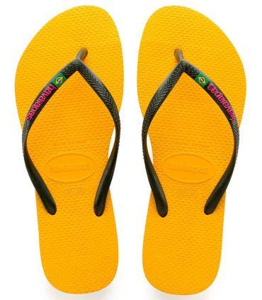 Havaianas Slim Brazil Yellow Logo