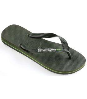 Tienda Sandalias / Chancletas Hombre - Havaianas Brasil Logo Verde verde Sandalias / Chancletas