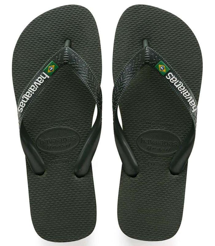 Havaianas Brasil Logo Verde Havaianas Tienda Sandalias / Chancletas Hombre Sandalias / Chancletas Tallas: 39 / 40, 41 /