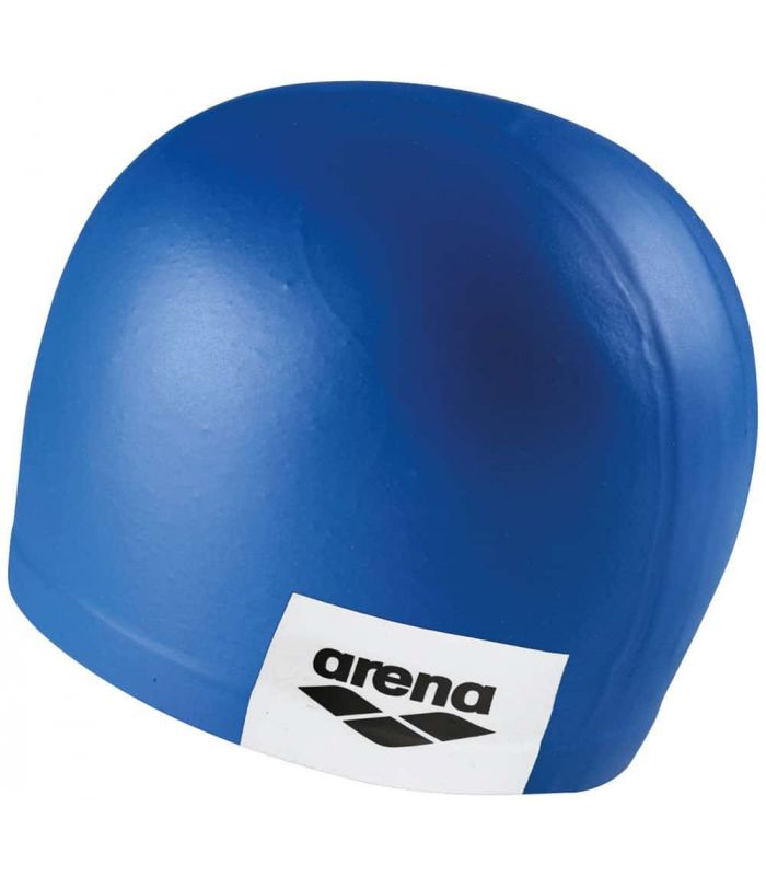Sand Cap Swimming Logo Moulded Blue