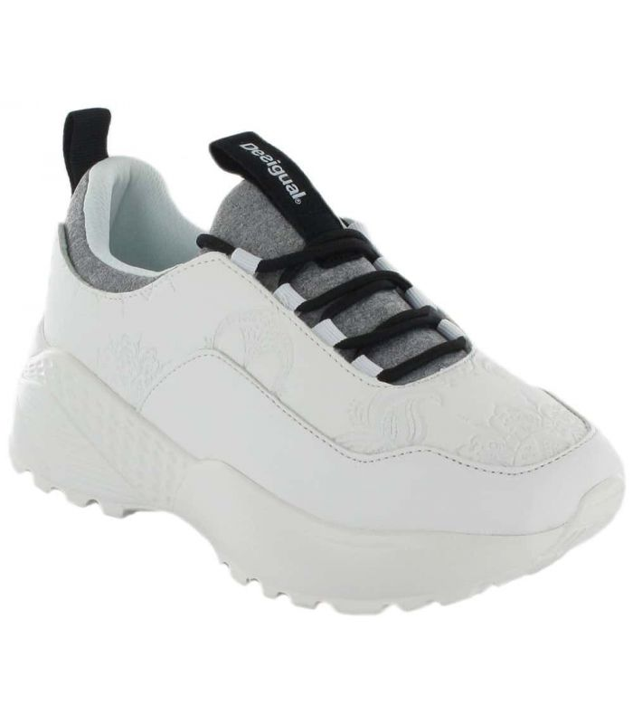 Uneven Chunky White - Casual Shoe Woman
