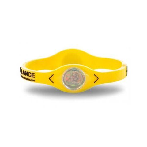 De puissance de Bracelet d'Équilibre de silicone Jaune -