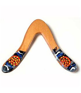 Boomerang wandjuk 2 zurdos Inicio Wallaby Modelo para