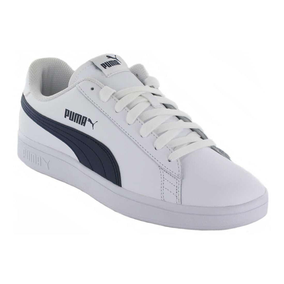 Puma Smash v2 L Blanco Puma Calzado Casual Hombre Lifestyle Tallas: 40, 41, 42, 43, 44, 45, 46, 47; Color: blanco