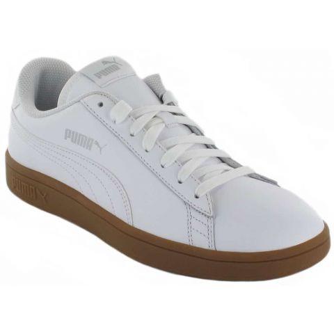 Puma Smash v2 L Blanco Caramelo Calzado Casual Hombre Lifestyle