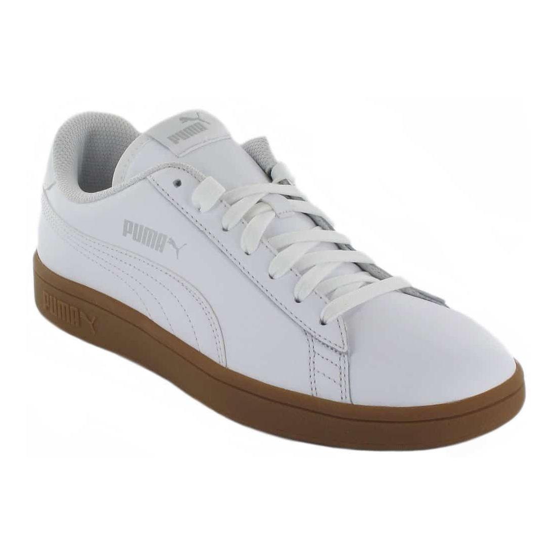 Puma Smash v2 L Blanco Caramelo Puma Calzado Casual Hombre Lifestyle Tallas: 40, 41, 42, 43, 44, 45, 46, 47; Color: