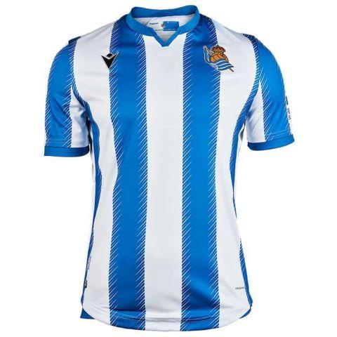 Macron Real Sociedad Oficial JR 2019/2020 Macron Equipaciones Oficiales Fútbol Fútbol Tallas: m, l, xl; Color: azul