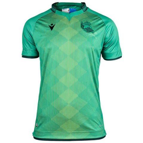 Macron Real Sociedad Segunda Jr 2019/2020 Macron Equipaciones Oficiales Fútbol Fútbol Tallas: m, l, xl; Color: verde