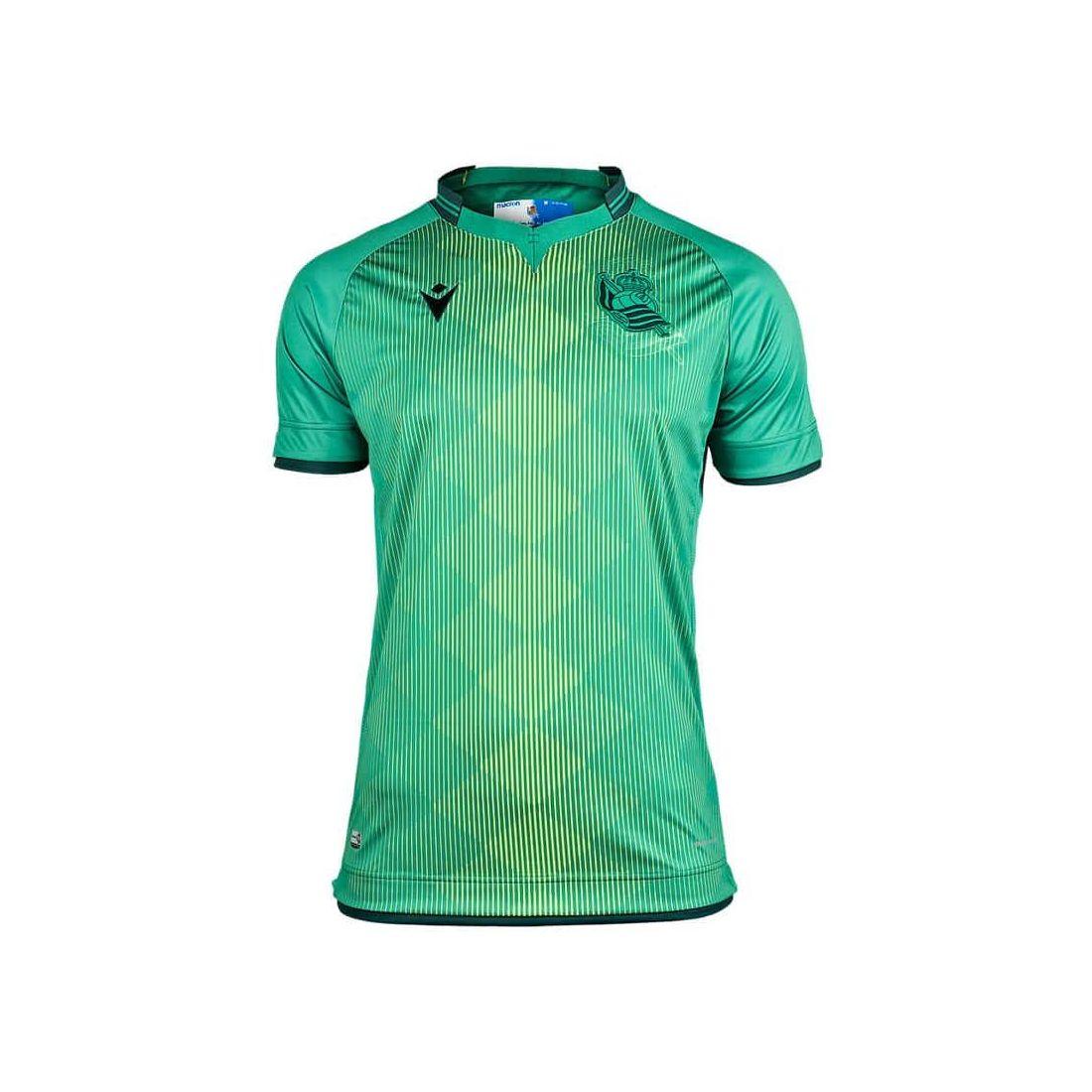 Macron Real Sociedad Segunda Jr 2019/2020 Macron Equipaciones Oficiales Fútbol Fútbol Tallas: m, l, xl, xs; Color: verde
