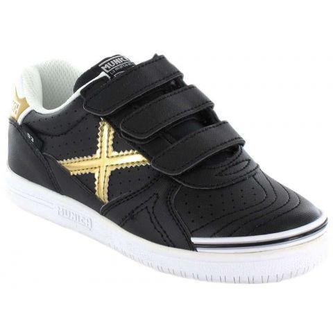 Munich G3 Noir Velcro Munich Chaussures sport style de Vie Junior Tailles: 26, 27, 28, 29, 30, 31, 32; Couleur: noir