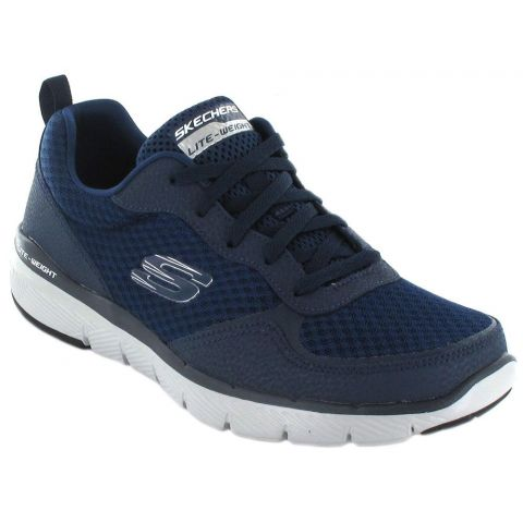 Skechers Flex Advantage 3.0 Navy Skechers Shoes Casual Man Lifestyle Sizes: 41, 42, 43, 44, 45, 46; Color: blue
