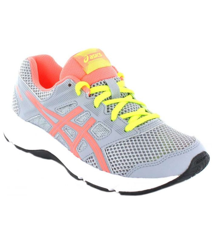 Asics Content Gs Grey Pink - Running Boy Sneakers