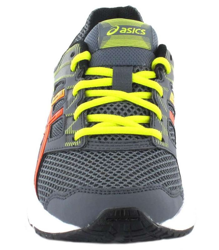 Asics Contenu Gs Gris Asics Chaussures De Running Enfant Chaussures De Course Running Tailles: 35,5, 36, 37, 37,5, 38, 39,