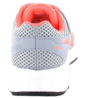 Asics Contenu Ps Gris Rose Asics Chaussures De Running Enfant Chaussures De Course Running Tailles: 31,5, 32,5, 33, 33,5, 34,5,
