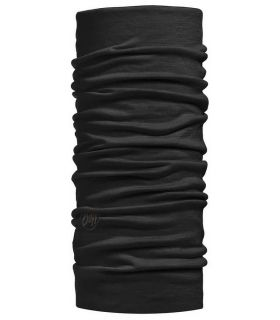 Buff Lightweight Merino Buff Solid Wool Buff Buff Montaña Montaña Color: negro
