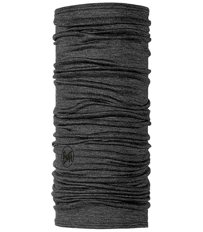 Buff Lightweight Merino Buff Solid Wool Grey
