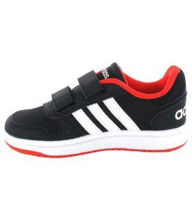 Adidas Hoops 2.0 CMF l Adidas Chaussure Décontractée Bébé mode de Vie des Tailles: 20, 21, 22, 23, 24, 25, 26, 27; Couleur: noir