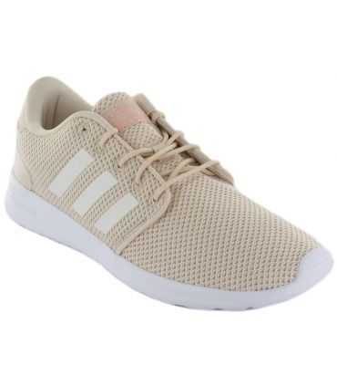 Adidas QT Racer Adidas Calzado Casual Mujer Lifestyle Tallas: 39 1/3, 40, 40 2/3, 41 1/3, 42, 42 2/3, 44; Color: beige
