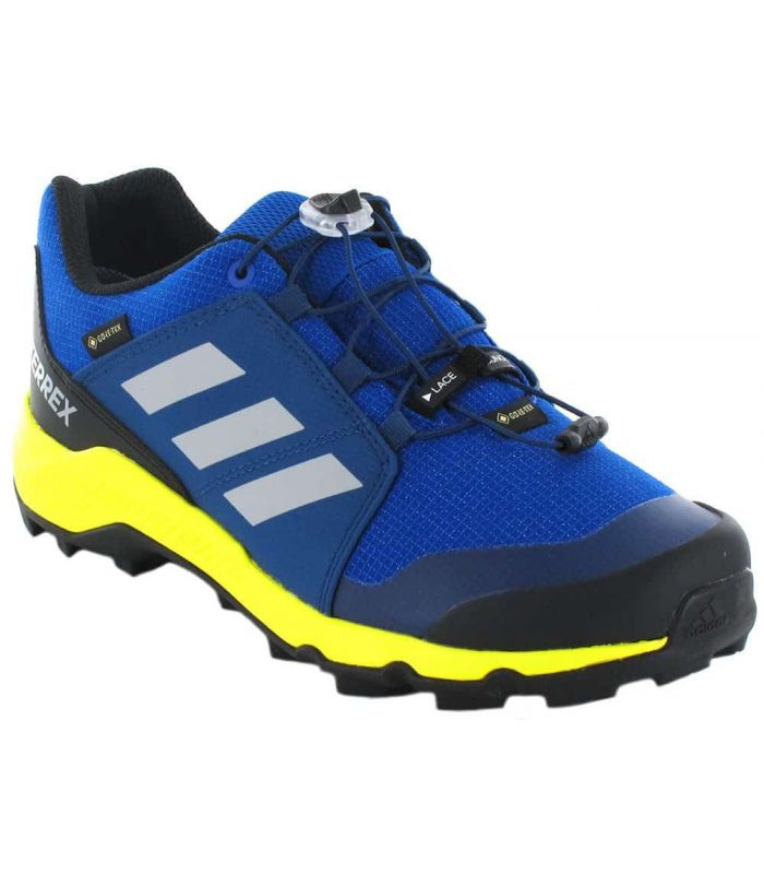 Adidas Terrex Gore-Tex K Bleu Chaussures De Course Adidas Enfants Chaussures De Trekking De Montagne Sculptures: 34, 35, 36