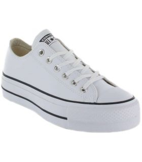 Converse Chuck Taylor All Star Lift Clean Leather Low Blanco Converse Calzado Casual Mujer Lifestyle Las
