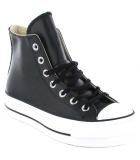 Converse Chuck Taylor All Star Lift Leather Bota Negro