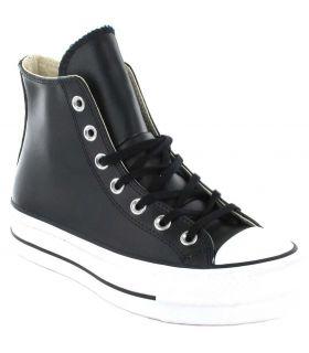 Converse Chuck Taylor All Star Lift Leather Bota Negro