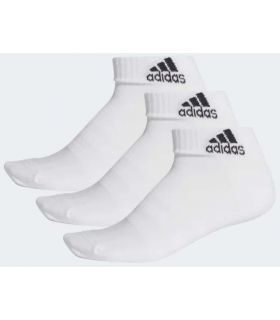 Adidas Calcetines Cortos Cushioned Blanco - Calcetines Running