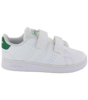 Adidas Avantage de l Adidas Chaussure Décontractée Bébé mode de Vie des Tailles: 21, 22, 23, 24, 25, 26, 27, 20; Couleur: blanc
