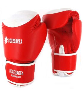 Boxing gloves BoxeoArea 124 Red