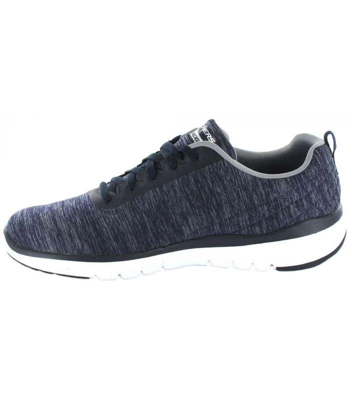 Skechers Jection Skechers Calzado Casual Hombre Lifestyle Tallas: 41, 42, 43, 44, 45, 46; Color: azul marino