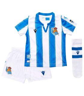 Macron Real Sociedad Kit Oficial 2019/2020 Macron Equipaciones Oficiales Fútbol Fútbol Tallas: 12, 24; Color: azul