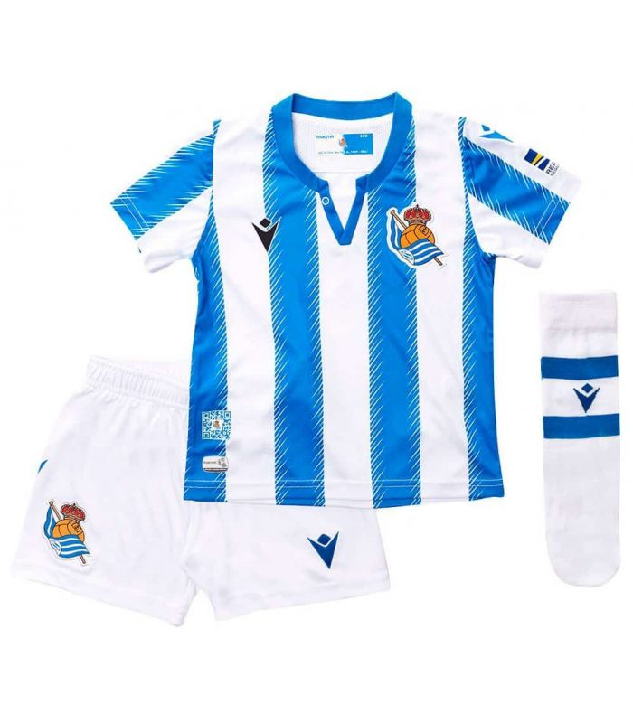 Macron Real Sociedad Kit Officiel 2019/2020 Macron Kits de football Officiel de Football Taille: 12, 24; Couleur: bleu