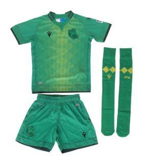 Macron Real Sociedad Kit Oficial 2 2019/2020 Macron Equipaciones Oficiales Fútbol Fútbol Tallas: xs; Color: verde