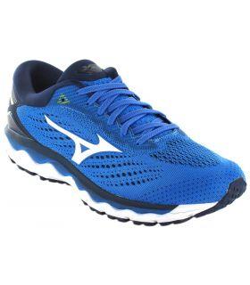 Mizuno Wave Ciel Bleu 3 de Mizuno Chaussures de Course Homme, Chaussures de Course Dimensions: 42,5, 44,5, 45; Couleur: bleu