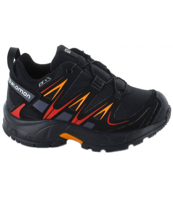 Salomon XA PRO 3D CSWP K Negro Salomon Zapatillas Trail Running Junior Zapatillas Trail Running Tallas: 27, 28, 30, 26;