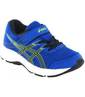 Asics Gel Contend 6 PS Bleu Asics Chaussures de Running Enfant Chaussures de course Running Tailles: 28,5, 31,5, 32,5, 33,5,