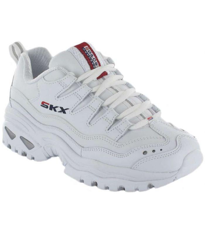 Calzado Casual Mujer - Skechers Energy Retro Vision Blanco blanco Lifestyle