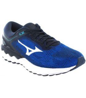 Running Man Sneakers-Mizuno Wave Skyrise Blue Running Sneakers