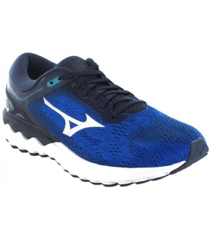 Zapatillas Running Man-Mizuno Wave Skyrise Bleu Zapatillas Running