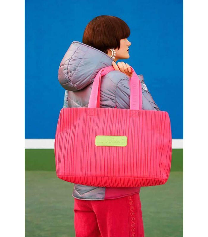 Desigual gym Bag 2 in 1 Fuchsia - Backpacks - Bags