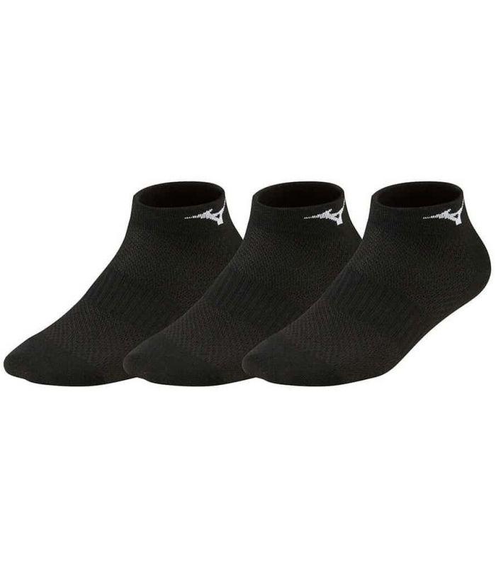 Mizuno Chaussettes de Formation en Milieu de 3P Noir